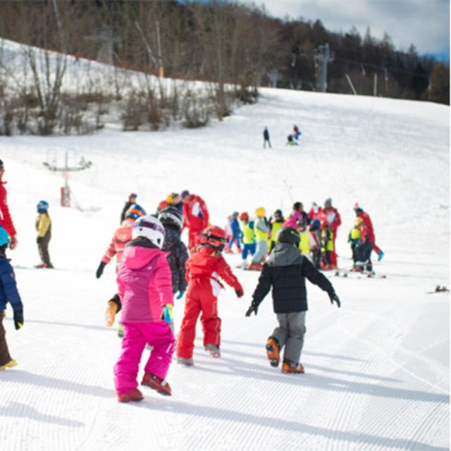 Fin de cours de ski ESF à Ancelle