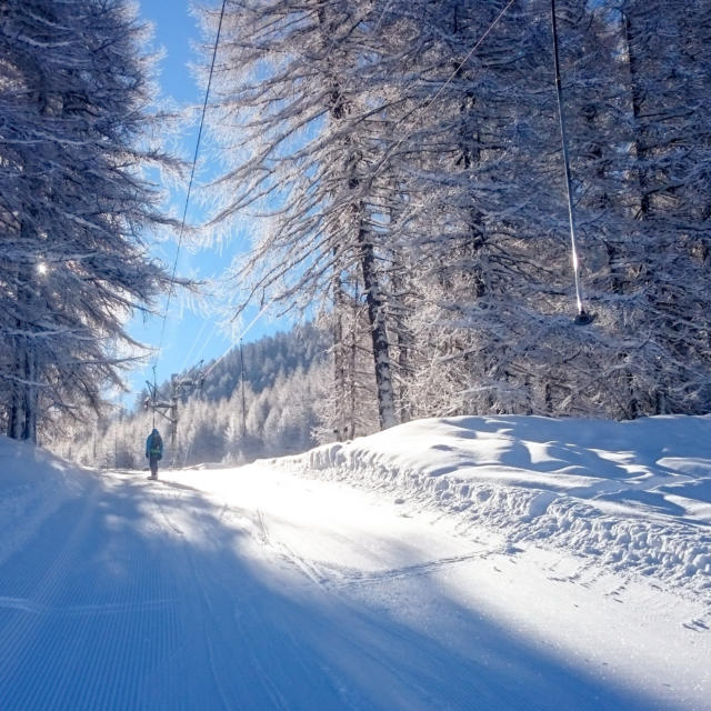Ski à la station de Serre Eyraud