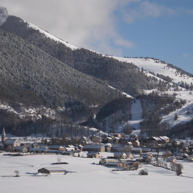 La station village d'Ancelle vue depuis les