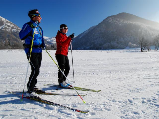 Ski de fond à la station d'Ancelle