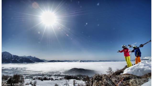 Vue panoramique de Chaillol sur la vallée du Champsaur