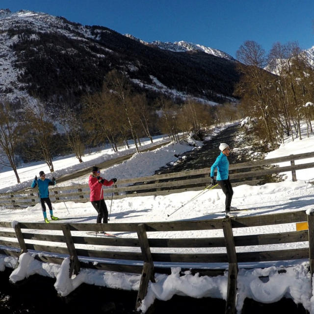 Ski De Fond au dessus de la Séveresse dans Valgaudemar
