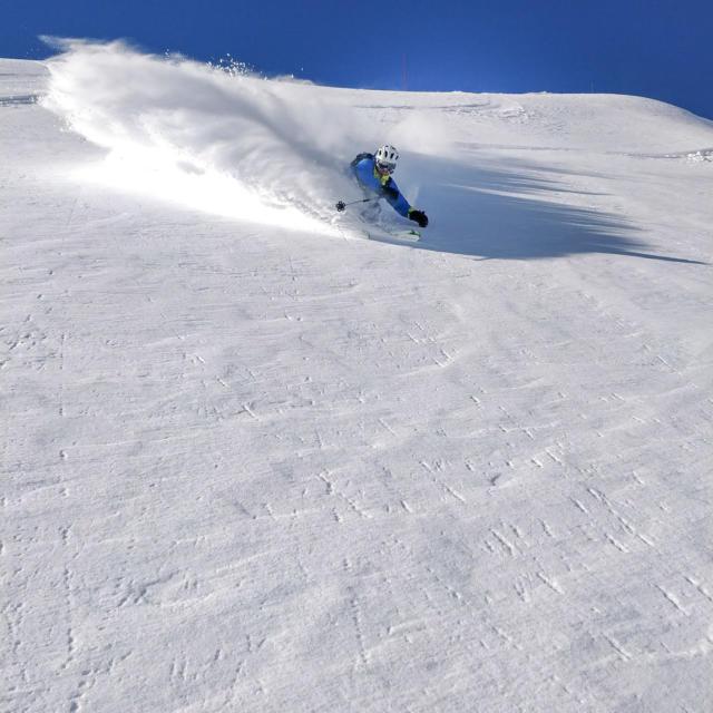Skieur station Orcières Merlette