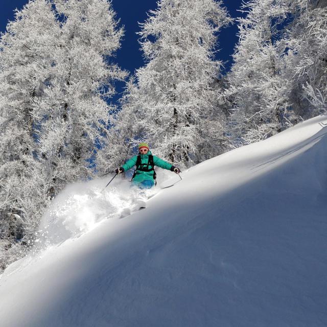 Descente en ski à St léger