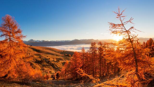 Mer de nuage en automne en Champsaur Valgaudemar
