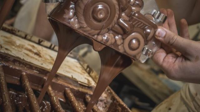 Création de chocolat par Thierry Siat
